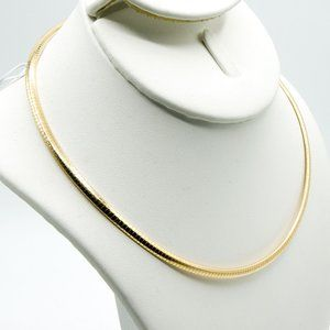 14k Yellow Gold Omega Necklace 3MM 16 Gram